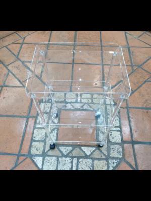 carrello rettangolare in plexiglass