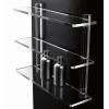 scaffale 2 o 3 piani in plexiglass