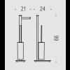 piantana 2 funzioni cromo