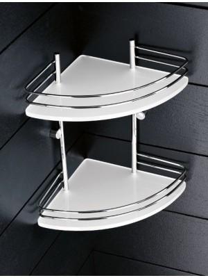 Angolare plexiglass 2 piani ringhiera cromo