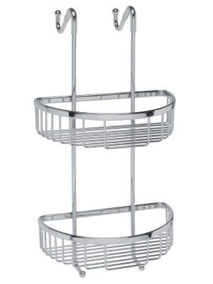 Mensole doccia d'appendere 2 piani curva