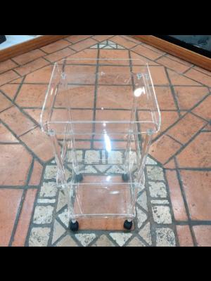 Carrello Plexiglass Quadrato