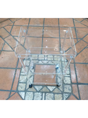 Carrello Plexiglass Rettangolare