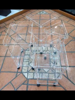 Carrello 2/3 piani Plexiglass