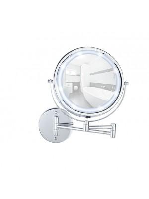 Specchio ingranditore LED 2 Aste incollo 5x