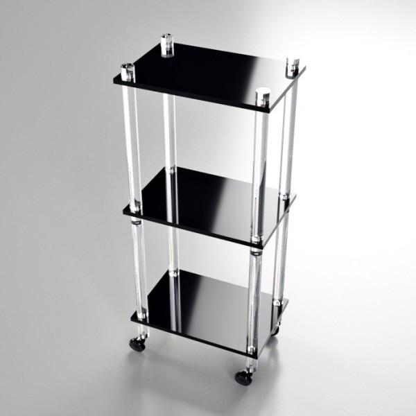 mobile barra tonda 40 x 30 nero