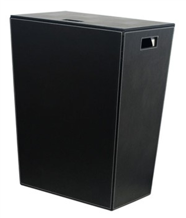 porta biancheria ecopelle nero