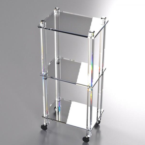 carrello mobile a giorno plexiglass