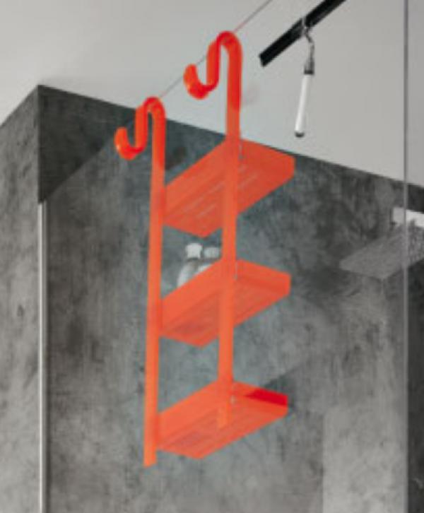 mensola doccia 3 piani largo 31 arancio